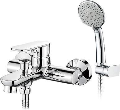 GRIFEMA Berlin - Grifo para bañera y ducha con alcachofa, manguera ...