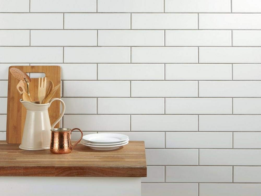 2'' x 8'' White Glossy Ceramic Subway Tile (Box Order of 60PCS)