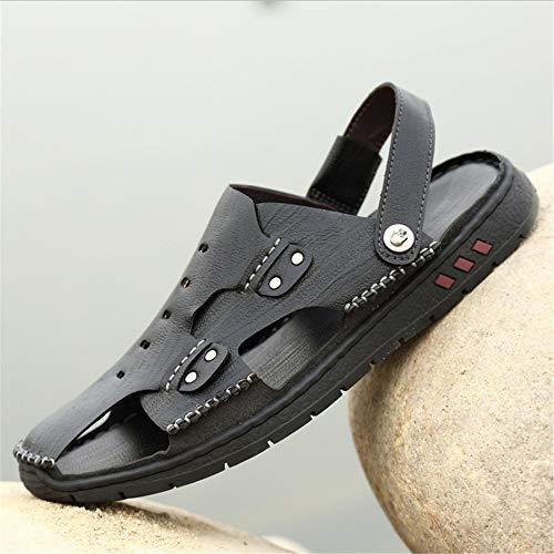 Pantofole da sport uomo Wagsiyi per Nero 0 0 spiaggia in Scarpe 27 e freddi pantofole aperta scivolo CM 24 anti all'aria traspiranti pelle qRSn5pxvR