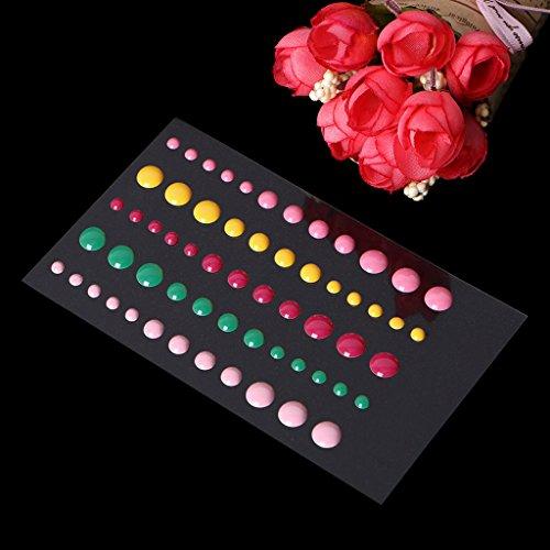 Shoresu 1Piece Enamel Dots Resin Self-adhesive Sticker for Scrapbooking DIY Crafts Sticky 13x8.3cm/5.12