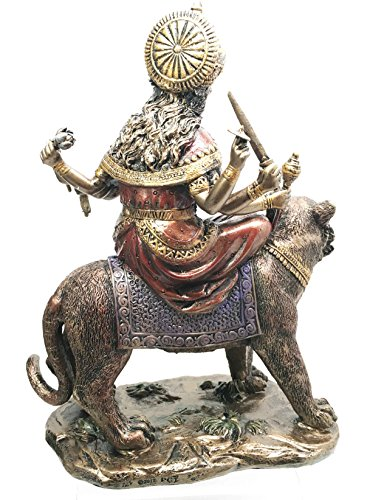 Eastern Enlightenment Durga On Tiger Statue Decorative Resin Piece