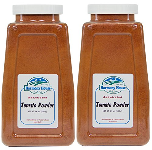 Harmony House Foods, Dried Tomato Powder (24 Ounce Quart Size Jar) - Set of 2 (Diced Tomatoes Jar compare prices)