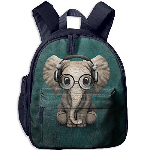 Children Adorable Music Glasses Elephant School Backpack Gift For Baby Boys    Girls Bookbags School Travel 20b39d0ed736d