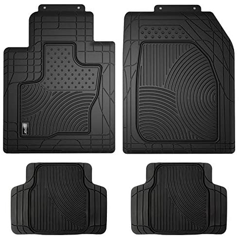Smart Fortwo Coupe 2007-2014 New Black Penny Rubber Tailored Car Floor Mats