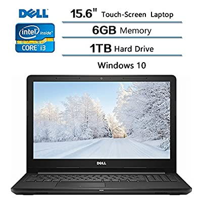 "2018 Dell Flagship Dell Inspiron 15.6"" TouchScreen Laptop (1366 x 768), Intel Core i3 7100U, 6GB DDR4 SDRAM Memory, 1TB Hard Drive, Intel HD Graphics 620, Windows 10,Black"