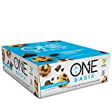 ONE Basix Protein Bar Cookie Dough Chocolate Chunk 12 Count, Gluten-Free Protein Bar with High Protein (20g) and Low Sugar (1g), Guilt Free Snacking for Healthy Diets