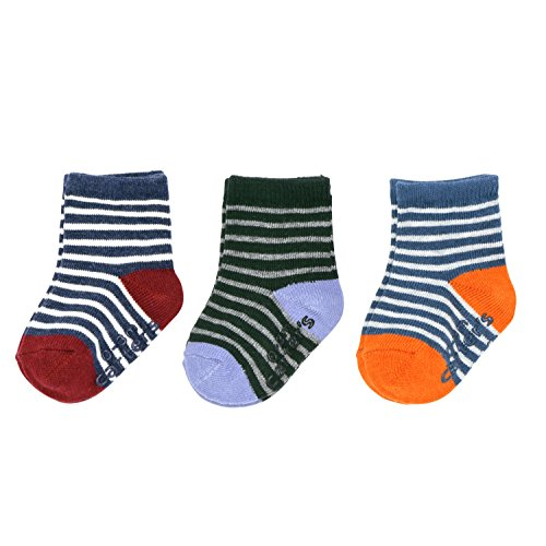 Carter's Baby Boys' Crew Socks (3 Pack), heathered multi/stripe, 3-12 (3 Pack Crew Socks)