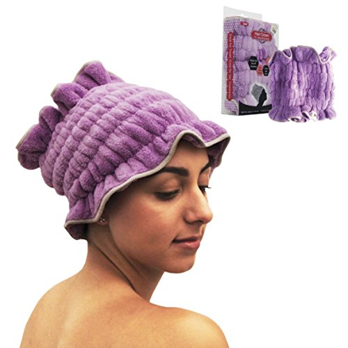Microfiber Dry Hair Towel Crown - Quick Absorbent Microplush & Natural Anti-Frizz - Comfort Bathing - Alternative to Large Twist Wraps For Personal Use and Perfect Salon Solutions (Anti Frizz Solutions)