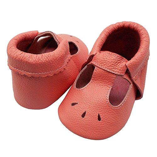 Mejale Baby Sommerschuhe Soft Soled Leder Sandalen Infant Walker Sandals Watermelon Pink
