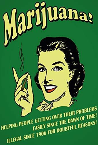 Cartel de Chapa genérica 20 x 30 cm Marihuana Helping People ...