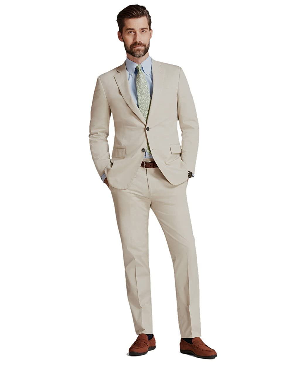 Brooks Brothers Mens Regent Fit Stretch Cotton Two Button