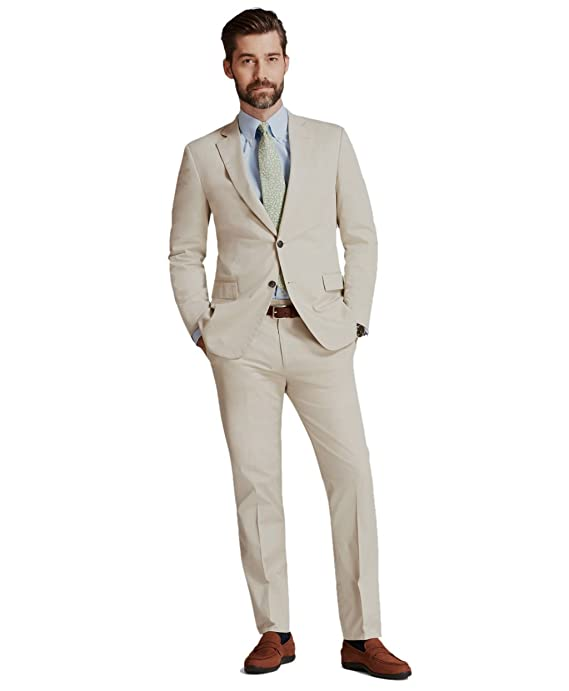 Brooks Brothers Mens Regent Fit Stretch Cotton Two Button ...