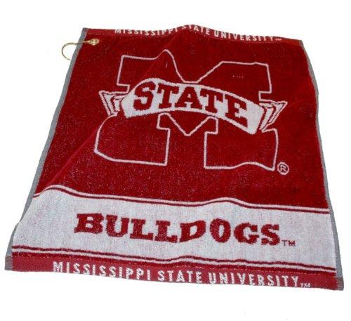 - Team Golf NCAA Mississippi State Bulldogs Jacquard Woven Golf Towel, 16