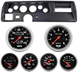 Classic Dash 104700111 Chevelle SS Black Dash Carrier Panel w/ AM Sport Comp Mechanical Gauges TR