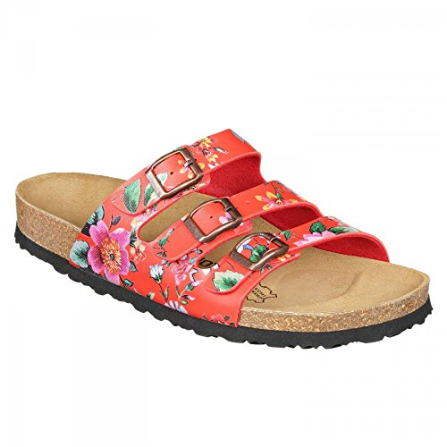 Sandals Red N SynSoft Print Flower Paris JOYCE JOE Narrow w4qdX88P