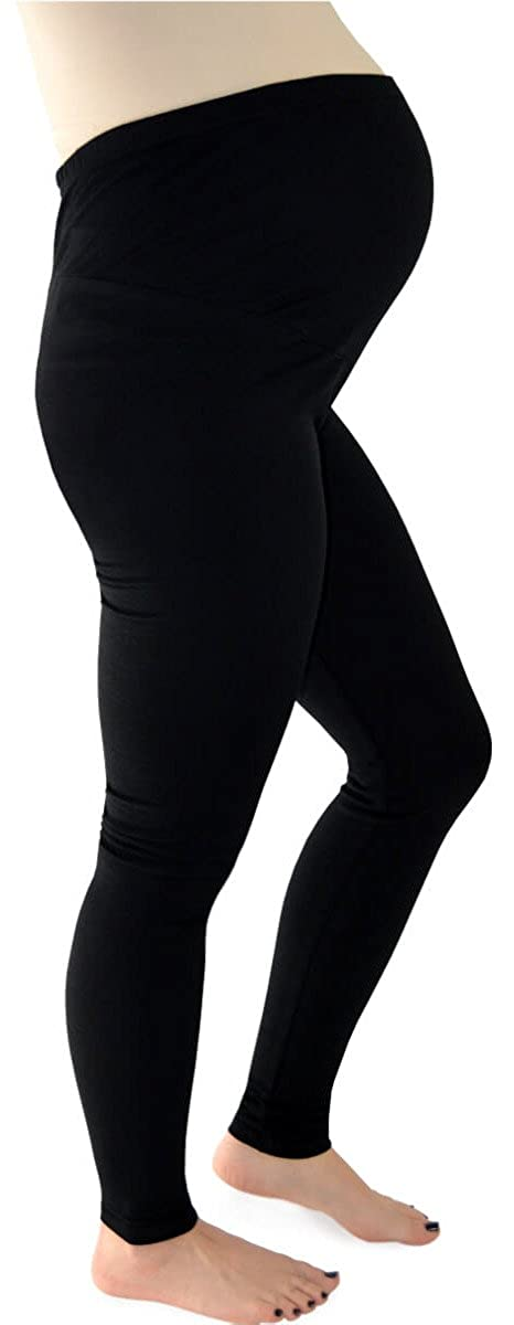 Soft Stretch Cotton Maternity Leggings with Bump Panel - Leg 30 Regular WL