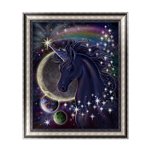 BloomingJS DIY Cross Stitch 5D Diamond Embroidery Painting Art Craft Unicorn In Universe
