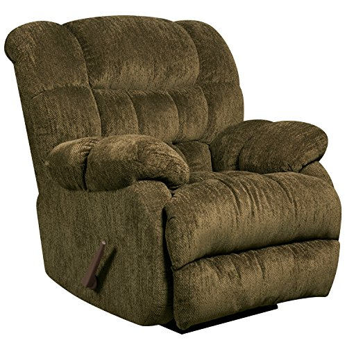 Flash Furniture Contemporary Columbia Mushroom Microfiber Rocker Recliner - Mushroom Rocker Recliner