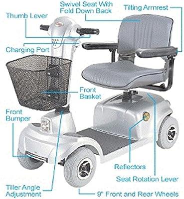 Amazon.com: CTM – hs-360 – Mid-range Viaje Scooter – 4-Wheel ...