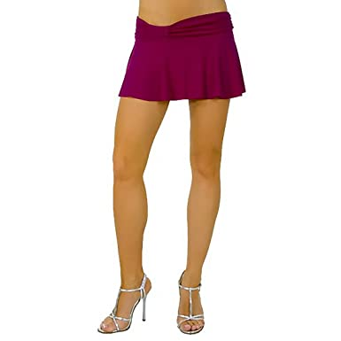 9fadd5cf3 Sexy Short Mini Skirt with Cute Knotted Waistband from Hot Fash Skirts -  SPREE Purple