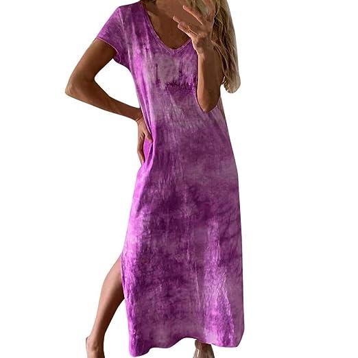 Armfer Bathing suit Maxi Vestido Largo para Mujer, teñido de ...