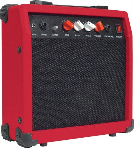 Johnny Brook - Amplificador para guitarra (20 W), color rojo ...