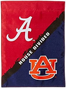 NCAA Alabama Auburn 2 Sided Garden Flag Rivalry House Divided