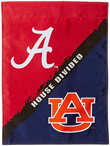Ncaa Rivalry House (NCAA Alabama-Auburn 2-Sided Garden Flag-Rivalry House Divided)