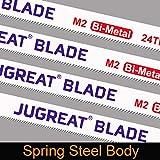 JUGREAT Hacksaw Replacement Blades, BI-Metal Safe