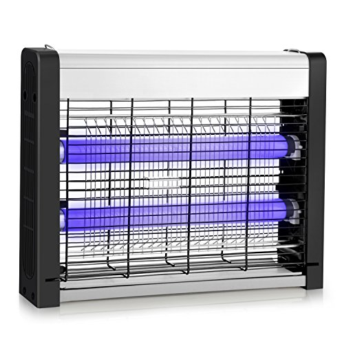 Electric Bug Zapper, Indoor Fly Insect Killer Catcher with 20W UV Light Replaceable Bulbs-Mosquito, Moth, Fly Killer, etc. Suitable for Hanging & Standing in Residential and Commercial Use (15.35)
