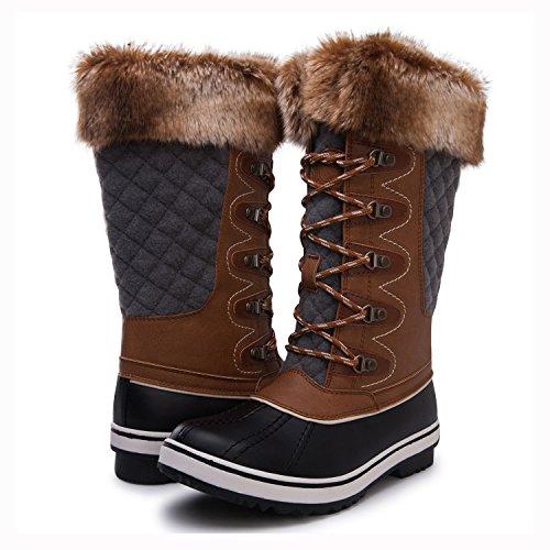 Kingshow Women's Globalwin Waterproof Winter Boots 1715camel