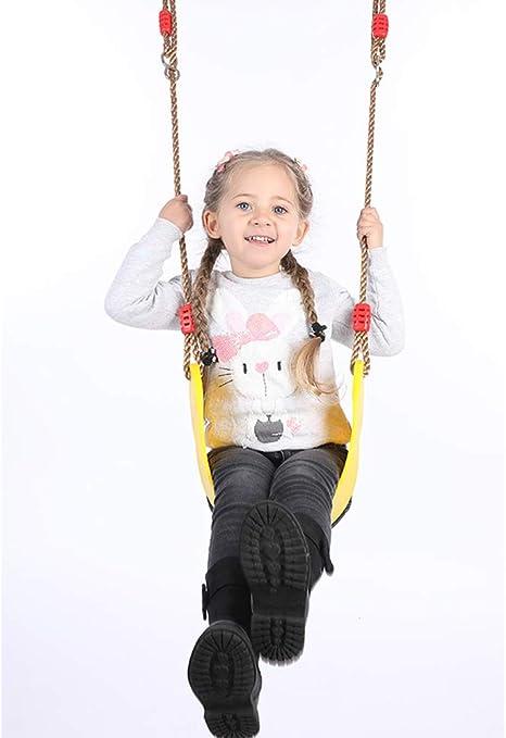 ROCK1ON Asiento Flexible para Columpio, Columpio Infantil elástico Carga máxima 150 kg Material EVA Balancín Panel Flexible Suave Columpio de Jardín Juguete para niños,Amarillo: Amazon.es: Deportes y aire libre