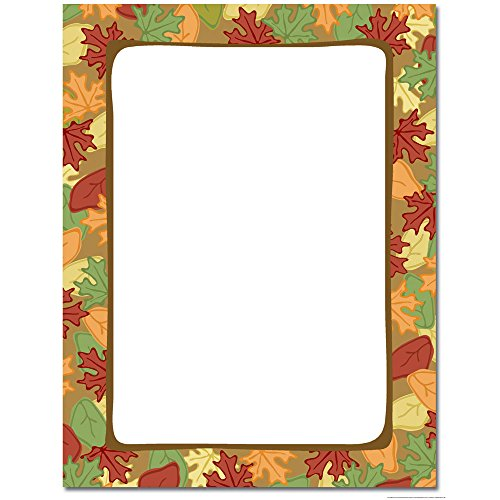 Artistic Autumn Leaves Letterhead & Printer Paper