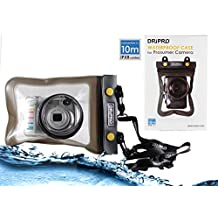Navitech Black Waterproof Underwater Housing Case/Cover Pouch Dry Bag For The Panasonic Lumix DMC-FH1 / Lumix DMC-FH2 / Lumix DMC-F5  / Lumix DMC-FH3 / Lumix DMC-FH5 / Lumix DMC-FH7 / Lumix DMC-F10