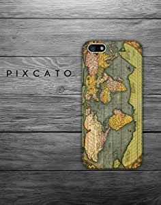 The World - Vintage Map - Map 02 - iPhone 6 Plus (5.5 inch) Case - 3D Iphone Case - Hard Plastic Case