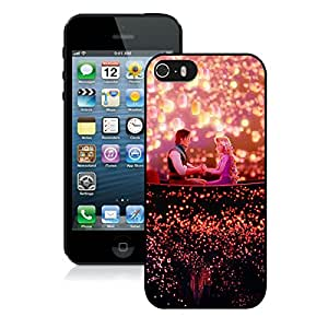 Beautiful Designed Case With Disney Tangled Black For iPhone 5S Phone Case