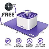 Cat Drinking Water Fountain with FREE Filter & FREE Silicone Mat | Automatic