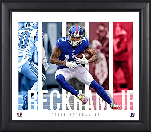 New York Giants Player - Odell Beckham Jr. New York Giants Framed 15