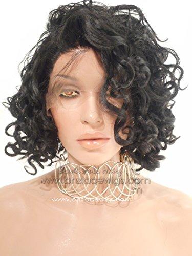 Rihanna bob Curly bob Lace Front Wig Nicki Minaj Wig beyonce Wig Blonde Lace (Blonde Nicki Minaj Wig)