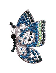 Women Jewelry Vintage Rhinestone Crystal Butterfly Pin Brooch