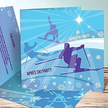 Einladung 60 Geburtstag Apres Ski Party 10 Stuck Puderblau Amazon