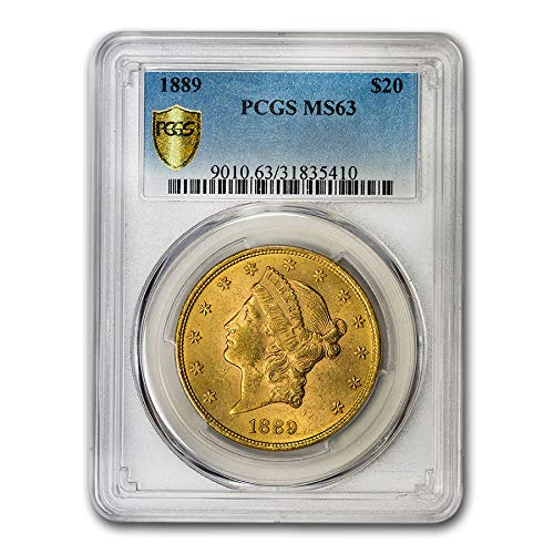 1889 $20 Liberty Gold Double Eagle MS-63 PCGS G$20 MS-63 PCGS