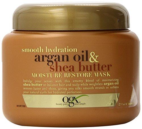 OGX Moisture Restore Mask, Smooth Hydration Argan Oil & Shea Butter, 8oz