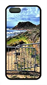 Bridge In The Mountains TPU Silicone Case Cover for iPhone 5/5S Black