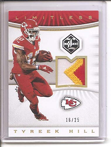 purchase cheap dd01f cc6d1 Tyreek Hill Kansas City Chiefs 2017 Panini Limitless 3-Color ...