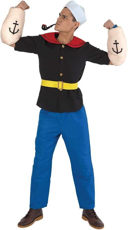 The Costume Center Disfraz de Hombre Marinero Negro y Azul, para ...