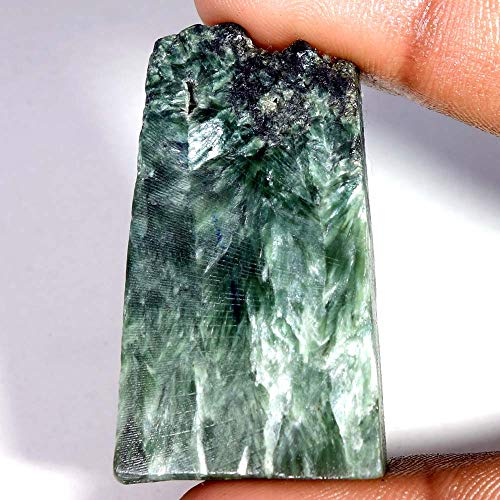 LARA GEMS STONES AND JEWELLERS 89.10Cts.100% Natural SERAPHINITE Rock Rough Slab for CABBING Gemstones