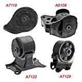 K881-04 : Fits 2002-2005 Hyundai Sonata 2.4L MANUAL, Motor & Trans Mount Set 4PCS 2002 2003 2004 2005 A7129, A6108, A7119, A7122