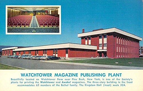 (Pine Bush New York Watchtower Plant Jehovahs Witness Vintage Postcard K77557)