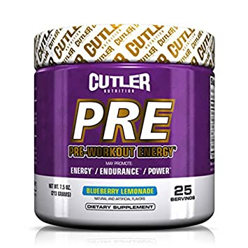 Cutler Nutrition Pre-Workout Energy Powder, Fruit Punch, 7.5 Ounce